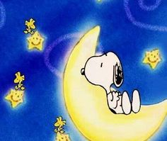 It's the moon and the stars and Snoopy!