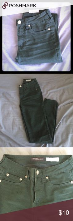 Aeropostale Forest Green Highwaisted Jegging Worn a few times and washed! No imperfections, I just don't fit in these anymore <_> Aeropostale Jeans