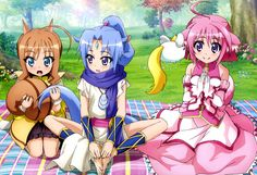 :o absurdres ahoge animal ears anklet bangs bare legs bare shoulders barefoot blanket blue eyes blue hair blush bow bowtie brown hair bush butterfly sitting day detached sleeves dog days dog ears dog tail dress feet feet together flat chest flow Dog Days Anime, Squirrel Tail, Horse Tail, Blue Blanket, Canvas Poster, Canvas Art, Animal Ears, Custom Canvas, Cute Art