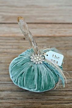 Velvet blue sea pumpkin