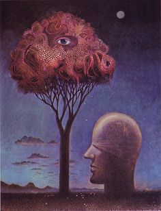 Phil Kirkland illustration, Psychology Today (1970)...No one knows what it means, so don't worry.