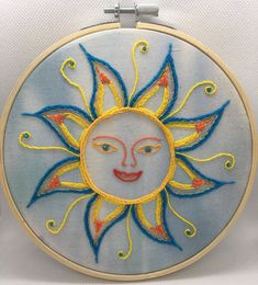 Embroidery Hoop Art, Embroidery Ideas, Psychadelic Art, Denim Jackets, Artsy Fartsy, Iridescent, Glass Beads, Arts And Crafts, Vibrant