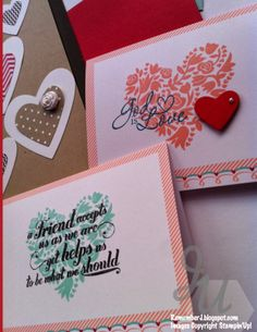 Simple Valentines with Stampin'Up Lots of Love promotion.