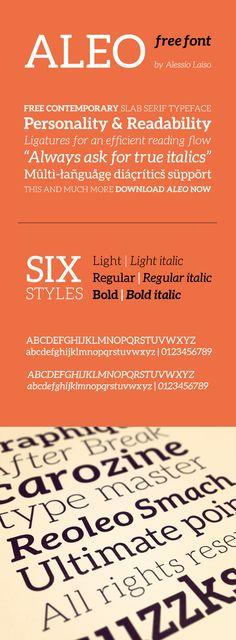Web design freebies, Aleo - Free Font