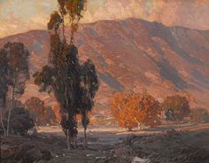 Hanson Puthuff (1875-1972). Hill Slopes. Oil on canvas, 28 x 36 in