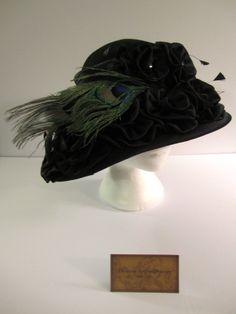 Titanic Extranvagance  Lady's Black Hat by AshTreeMeadowDesigns