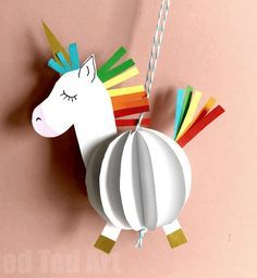21 Easy and Creative DIY Crafts for Girls for Hours of Endless Fun - Geburtstag Einhorn - Crafts 3d Paper Crafts, Paper Crafts For Kids, Printable Paper Crafts, Preschool Crafts, Easter Crafts, Diy Crafts For Girls, Crafts To Do, Diy Arts And Crafts, Unicorn Birthday