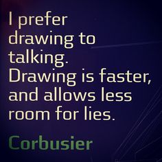 I prefer drawing to talking. Drawing is faster, and allows less room for lies. ✏️