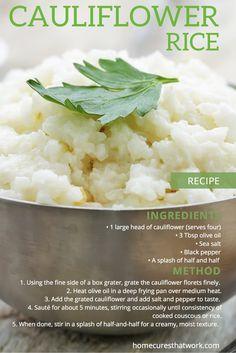 #cauliflower #rice