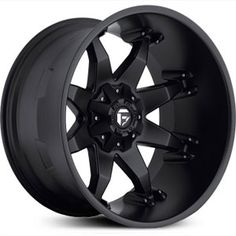 Fuel Octane Deep Lip D509, matte black rims.