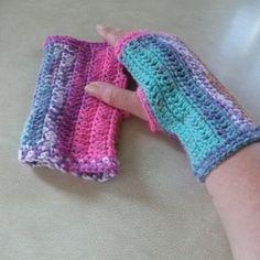 Fingerless Mittens - Vibrant Colour Mix