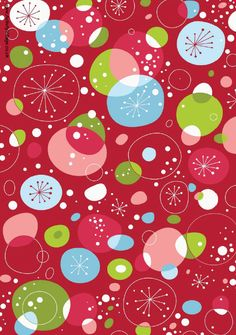Christmas scrapbook paper - retro