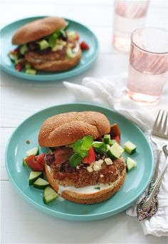 Greek Turkey Burgers {Tablespoon Tuesdays} | Bev Cooks