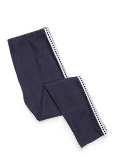 J. Khaki  Denim Sidetape Leggings Girls 4-6X