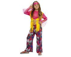 Tu mejor disfraz de hippie para niña bt 36034.Este comodísimo traje colorido y floral es perfecto para carnavales, espectáculos, cumpleaños y tambien para las fiesta de los colegios como fin de curso o cualquier otras actividades.
