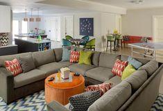 Teen Lounge by Liz Caan Teen Lounge Rooms, Teen Hangout Room, Teen Game Rooms, Kids Rooms, Home Design, Design Ideas, Interior Design, Game Room Basement, Basement Ideas