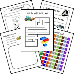Learning with LEGO {junior version!} | Walking by the  - Can't wait to try Lego fun with letters, measuring and counting! Great for pre-k and kindergarten!!!