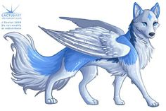 anime wolf with wings Pet Anime, Anime Animals, Cute Animals, Anime Wolf Drawing, Furry Drawing, Anime Sketch, Mythical Creatures Art, Fantasy Creatures, Cute Animal Drawings