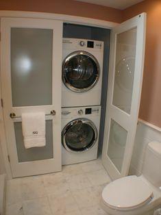 1000 images about new laundry closet on pinterest laundry closet laundry and laundry rooms - Small space laundry set ...