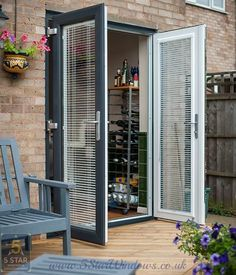 Explore our range of French Doors. We offer UPVC French Doors and Aluminium French Doors. Blinds For French Doors, French Doors Exterior, Upvc French Doors, Replacement French Doors, Exterior Design, Patio Doors, House Front Design, House Extension Design, Doors