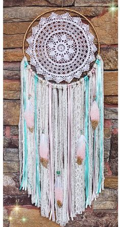 Custom bohemian Dreamcatcher by The Desert Mermaid https://www.etsy.com/shop/DesertMermaidStore