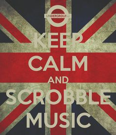 'KEEP CALM AND SCROBBLE MUSIC' Poster