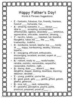 fathers day printable free cards