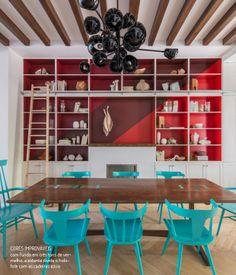 Pintura e cores criativas. Veja mais: http://www.casadevalentina.com.br/blog/materia/pintura-e-cores-criativas.html  #decor #decoracao #interior #design #color #paint #cor #pintura #dining #casadevalentina