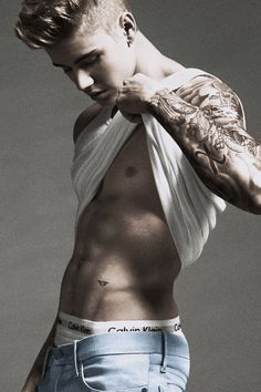 Justin Bieber for Calvin Klein, Jan. 2015