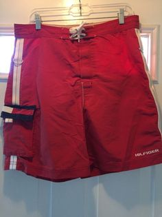 Vintage 1990's Tommy Hilfiger Swim Trunks Board Shorts Size M Super! #TommyHilfiger #Beach