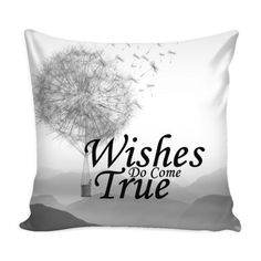 Decorative Pillow Cover Wishes do come True Pillow Cover Details  16 x 16 100% spun polyester poplin fabric Individually cut and sewn by hand A single sided print with white back Finished with a concealed zipper Does not include pillow insert