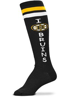 All the best Boston Bruins Gear and Collectibles are at the official online store of the NHL. The Official Bruins Pro Shop on NHL Shop has all the Authentic Bruins Jerseys, Hats, Tees, Hockey Apparel and more at NHL Shop. Boston Bruins Hockey, Hockey Mom, For Bare Feet, Boston Strong, Boston Sports, Hockey Games, Knee High Socks, Playing Dress Up, Nhl