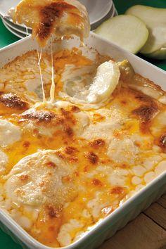 Gratín de chayotes y jamón. una receta FÁCIL Y RÁPIDA ;)
