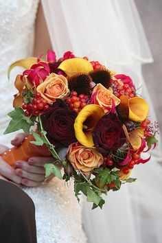 Autumn Wedding Bouquet.  Flowers of Charlotte loves this!   Find us at www.charlotteweddingflorist.com