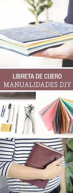 Tutorial DIY - CÓMO HACER UNA LIBRETA CON CUBIERTA DE CUERO en DaWanda.es