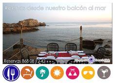Este fin de semana aprovecha y ven a disfrutar, con tu pareja o amig@s, de una idilica cena en nuestro balconcito al mar , reservas 968081242