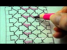 ▶ How to draw tanglepattern Schway - YouTube