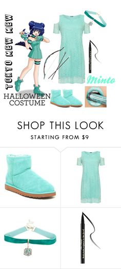 """MINTO"" by aichi ❤ liked on Polyvore featuring UGG Australia, Mew., WearAll, Warner Bros., Too Faced Cosmetics, anime, halloweencostume, DIYHalloween and tokyomewmew"