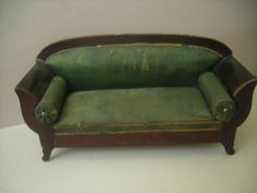 Antique Biedermeier Dollhouse Sofa 1880's Era | eBay