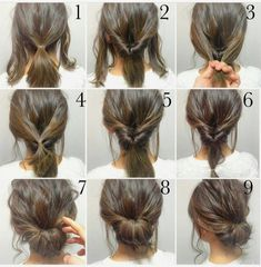 Easy elegantly messy bun