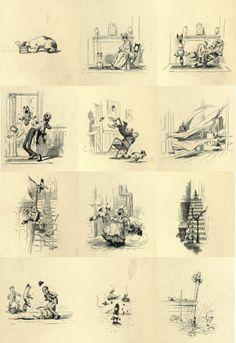 Arthur Burdett Frost - Our cat eats rat poison (1884)