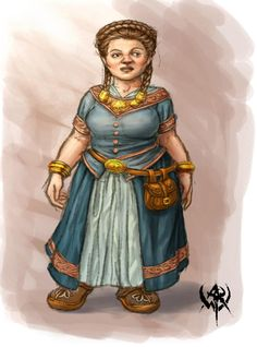 Female dwarf merchant - naine#