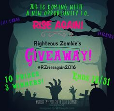 I'm having a give away on my Instagram, check it out! @righteouszombie  Starbucks cards, stickers, etsy credit, shoutouts & a tee shirt ♡