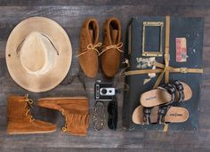 To help you get Coachella-ready, we're sharing our three must-haves to pack for this fashion-forward festival. Music Festival Outfits, Minnetonka Shoes, Fringe Boots, Moccasins, Cowboy Hats, Boho Fashion, Combat Boots, Coachella, Fashion Forward
