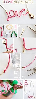 DIY Love Necklace