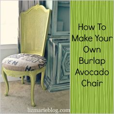 How to Make Your Own Burlap Avocado Chair