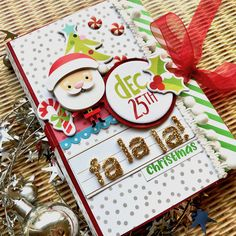 Christmas Card-o-lope by Virginia Nebel for Scrapbook & Cards Today magazine Christmas Mini Albums, Christmas Scrapbook, Christmas Minis, Christmas Books, Christmas Countdown, Christmas Wrapping, All Things Christmas, Christmas Ideas, Christmas Paper Crafts