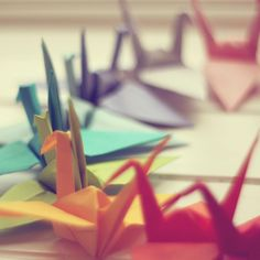 Hopeful Origami Shapes Blur #iPad #wallpaper