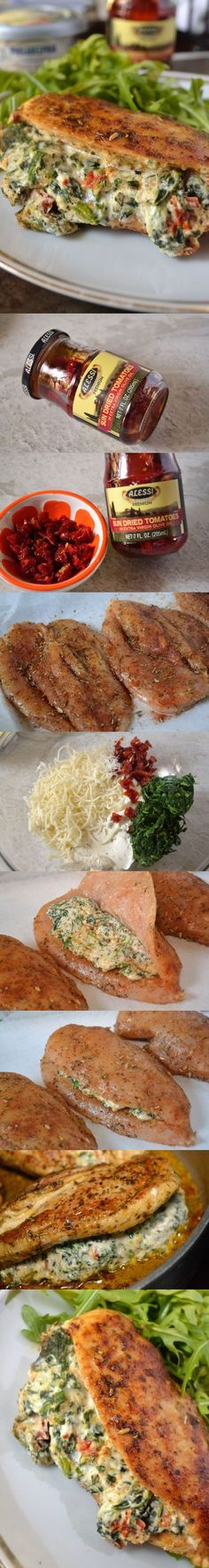 Stuffed Tuscan Chicken - Coop Can Cook Ww Recipes, Copycat Recipes, Fall Recipes, Cooking Recipes, Casserole Kitchen, Bean Casserole, Ribs In Oven, Specialty Meats, Tuscan Chicken