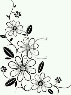 Iclipart royalty free clipart image of a flower cornerIdeas flowers black and white drawing doodles clip art for Botanical Corner stock images in HD and millions of other royalty-free stock photos, illustrations and vectors in the Shuttersto Ribbon Embroidery, Embroidery Stitches, Embroidery Patterns, Free Clipart Images, Royalty Free Clipart, Flower Patterns, Flower Designs, Motifs Perler, Black And White Drawing